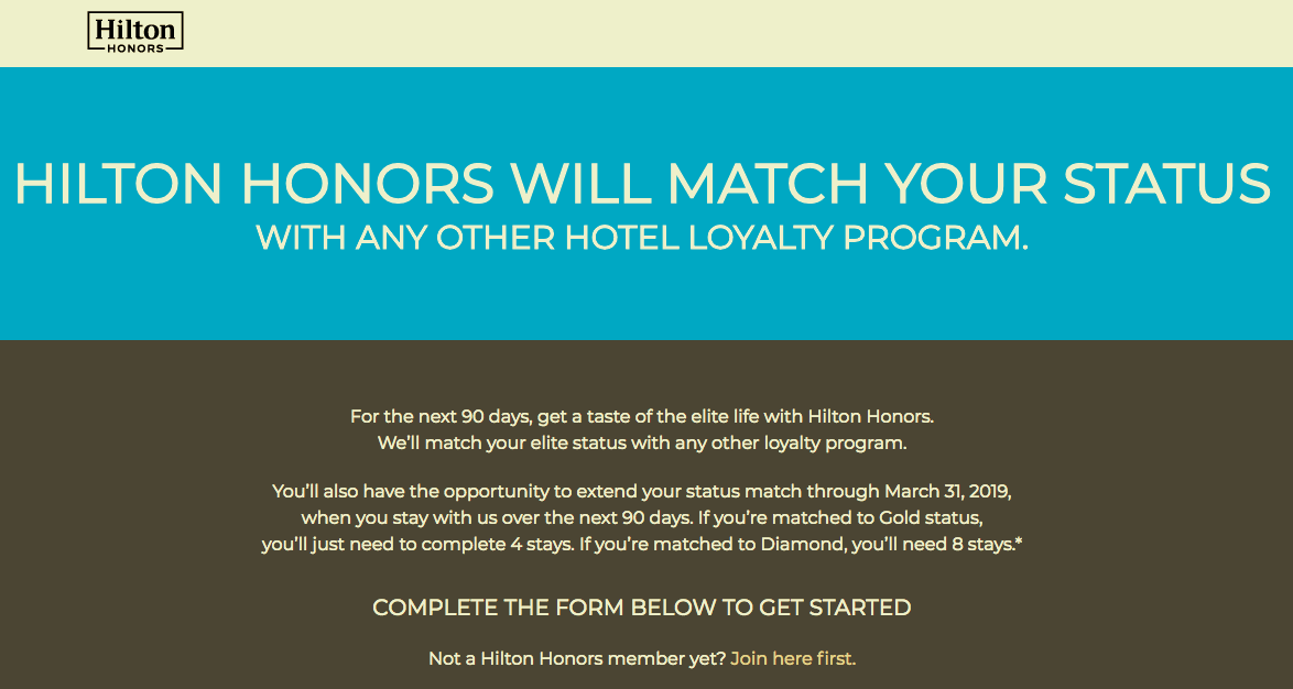 【Hilton Honors】ステータスマッチでヒルトン・オナーズのダイヤモンド会員に