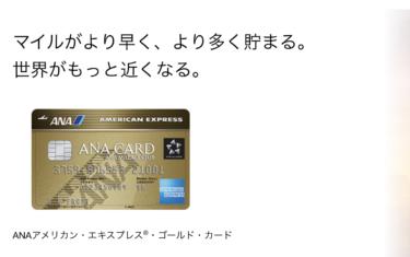 ANAアメックスゴールドカードの魅力!年会費や審査は?(ANAマイルが無期限に貯められる)